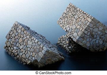 Man-made rocks