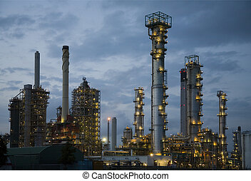 Refinery at night 8 - Refinery at night, Europoort,...
