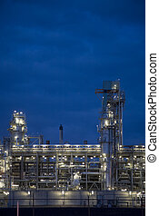 Refinery at night 9 - Refinery at night in Europoort,...