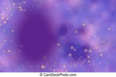 Birthday Greeting - Purple background with dreamy effect and...