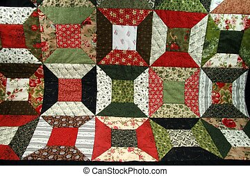 Spool Quilt Pattern - spool quilt pattern detail in red and...