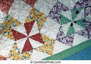 Pinwheel Quilt detail 02 - pinwheel quilt pattern detail in...