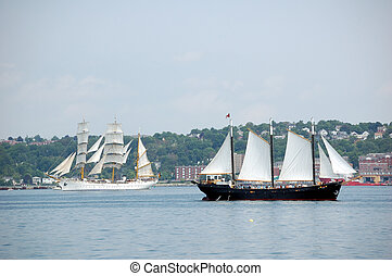 Tallships - Two tallships under sail