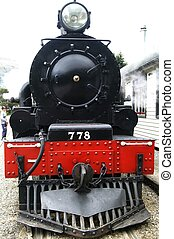 Train 778 - Front view of a historic steam train