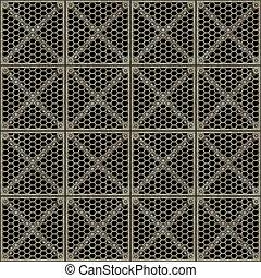 metal barrier - a large image of a metal gridwork barrier