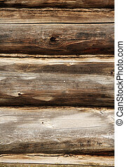Wall from logs - Full screen high resolution shot of wood.