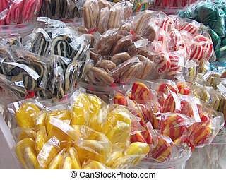 Lollipops in various colors