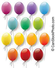 balões, cobrança