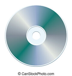 Gray CD - Blank gray compact disc