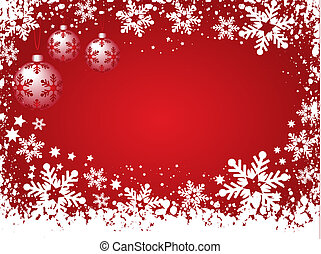 Christmas background - Snowy background with Christmas...