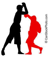 martial arts - art images of  martial arts silhouette