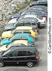 Parked cars - Cars parked on a parkinglot