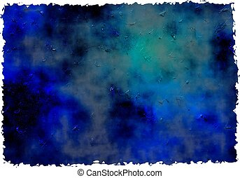 blue grunge paper - dark blue ancient impasto grunge paint...
