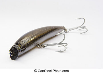 darter - fishing lure isolated