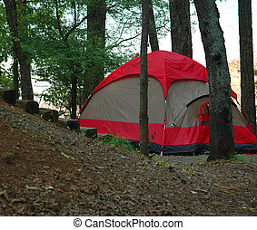 acampamento, vida