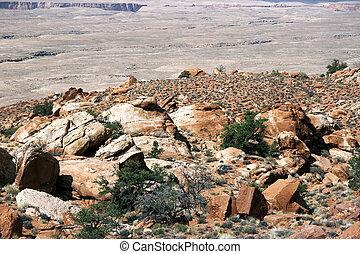Colorado Plateau - red rocks, rock stratum in Colorado...