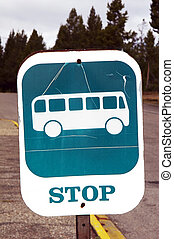 sign - STOP BUS