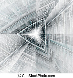 triangle tunnel or spaceship rendering