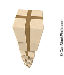 Stack of Packages - 3D Illustration