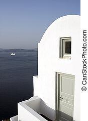villa over sea santorini