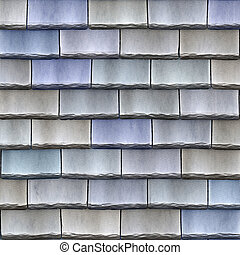 shingles - a large image of blue stone roof shingles or...