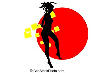 DANCING GIRL - Silhouettes of nice girls dancing You will...