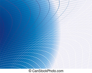 blue web - Illustrated abstract background with a blue...