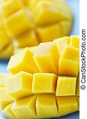 Mangoes - A closeup shot of ripe and juicy mangoes
