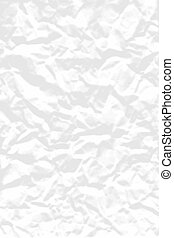 Crumpled paper - Background illustration of crumpled white...