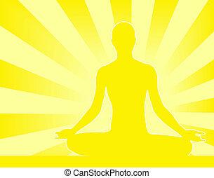 Meditation - Abstract illustration of person meditating...