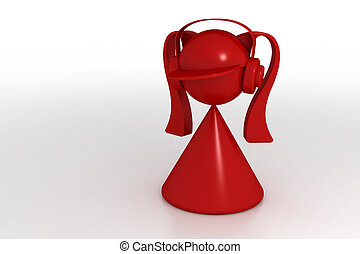 girl and headphones - 3d model girl and headphones Made in...