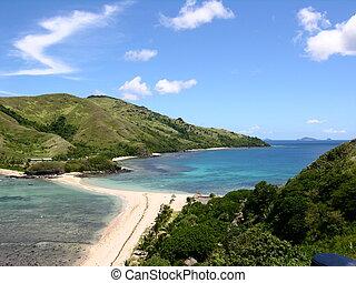 Sandbar at little Waya, Fiji