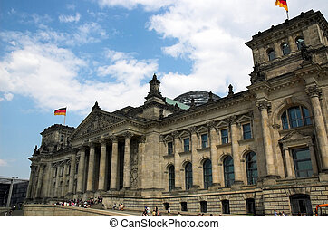 Reichstag building In Berlin, Germany.