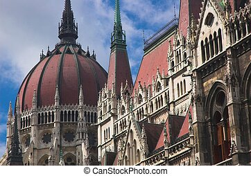 Hungarian Parliament - Detail of Hungarian Parliament in...