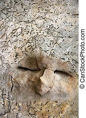 Face in stone - Very old rock with sleeping stone face Good...