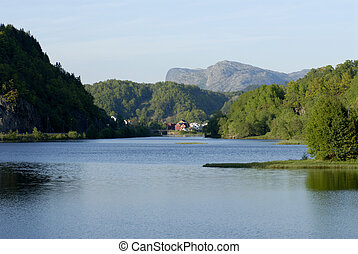 House in Lysefjord - Picture of house in Lysefjord - fjord...