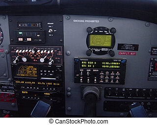 Control Panel - A picture of an airplane control panel