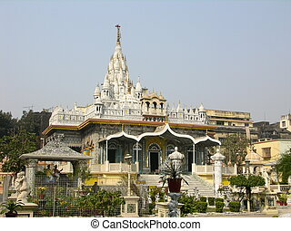 Mirrored Temple - The Mirrored Temple, center of Jain...