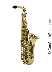 Saxophone - instrument, manuscript, music, pipe, song, sound...