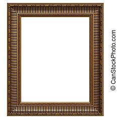 Painting frame - frame on a white background