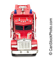 fire-fighting vehicle - series object on white - toy...