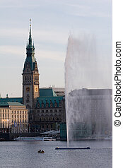 City Hall Hamburg, Germany - City Hall Hamburg, view from...