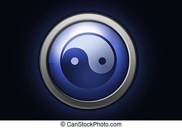 Ying-yang sign - Ying-Yang sign, positive and negative...