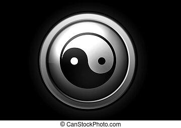 Ying-yang sign - Ying-Yang sign, positive and negative...