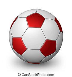 Red soccer Ball - Red Soccer ball illustration