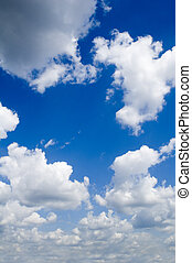 rainclouds - leaden clouds. grey clouds and blue sky