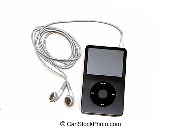 Mp3 Player - A mp3 player isolatred on a white background