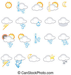 Weather icons - Set of different weather icons