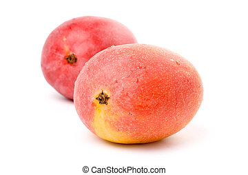 Mango - isolated Red Mango close up shot