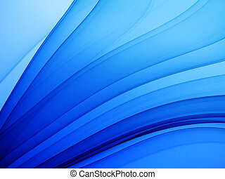 deep blue abstract theme - high quality render